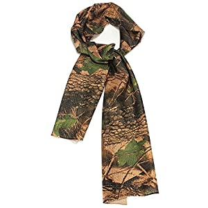 TOOGOO (R) Tactical Camouflage Schal Tuch Halstuch Tarnschal Baum-Blatt