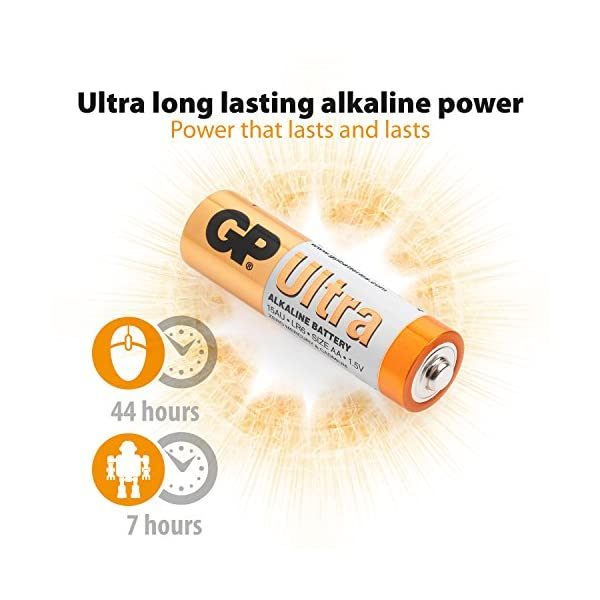 AA Batteries pack of 40 by GP AA Batteries Ultra Alkaline - 10 year shelf life, ideal for everyday hungry devices, long…