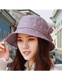 SAIBANGZI Hat Mujer Algodón Fino Sombrero Para El Sol Sombrero Pescador Pac  Sun Casco Gorro De f4150a5e01f
