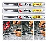 3x Scheibenwischer 350+ 500+ 550 mm VORNE + HINTEN BOSCH- Set 3795481705649