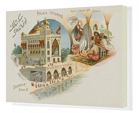 Canvas Print of Ottoman Palace - Paris Exhibition