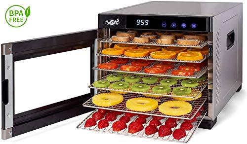 Deshydrateur Aliment Acier Inoxydable • Minuteur de 24h • Température réglable (35 à 75°C) +...
