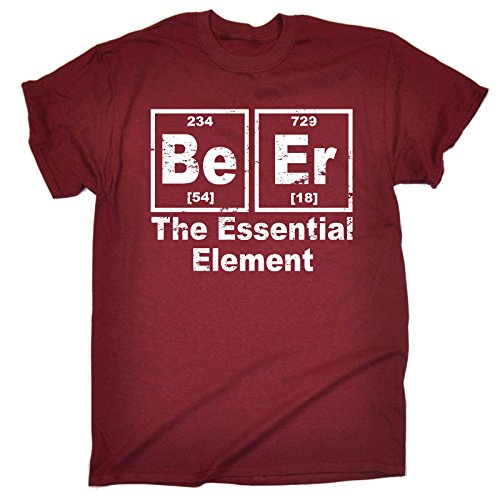 123t-Mens-Beer-The-Essential-Element-T-SHIRT-Funny-Christmas-Casual-Birthday-Tee