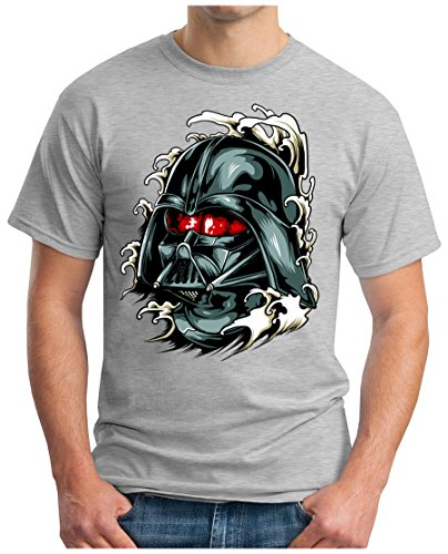 OM3 - DARK-VADER - T-Shirt, S - 5XL Grau Meliert