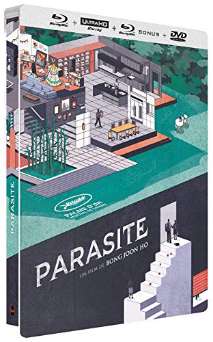 Parasite Collector-4K [Édition Collector boîtier SteelBook-4K Ultra HD Blu-Ray Bonus + DVD]