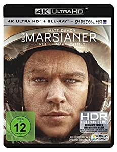 Der Marsianer – Rettet Mark Watney 4K Ultra HD + Blu-ray: Matt Damon, Jessica Chastain, Kate Mara, Jeff Daniels, Sean Bean, Naomi Scott, Donald Glover, Ridley Scott