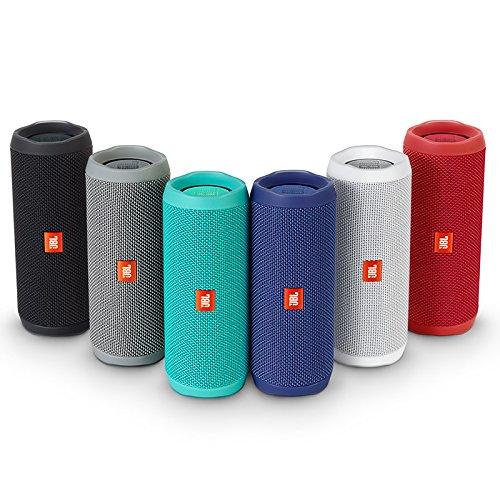 JBL FLIP 4 (Ein voll ausgestatteter, wasserdichter und mobiler Bluetooth-Lautsprecher mit überraschend kraftvollem Sound) schwarz -