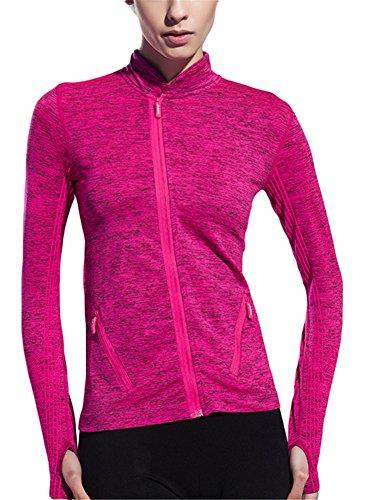 GoodNight Frauen laufende Yoga Sweatshirts Raumfarbstoff Sport Jacken Mantel (Activewear-jacke Farbe)