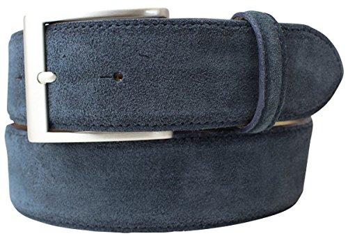 Gürtel aus Veloursleder 4,0 cm   Velour-Ledergürtel für Damen Herren 40mm   Wildleder-Gürtel 4cm in Schwarz Braun Grau Blau Dunkelbraun (Herren-wildleder-kleid-jacken)