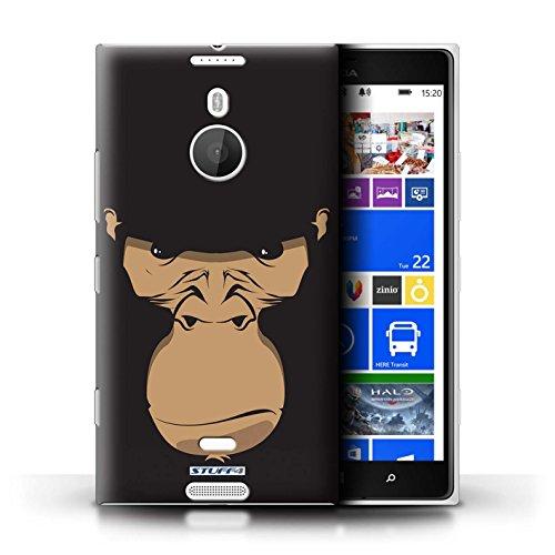Kobalt® Imprimé Etui / Coque pour Nokia Lumia 1520 / Chat noir conception / Série Museaux Gorille/Chimpanzé/Singe