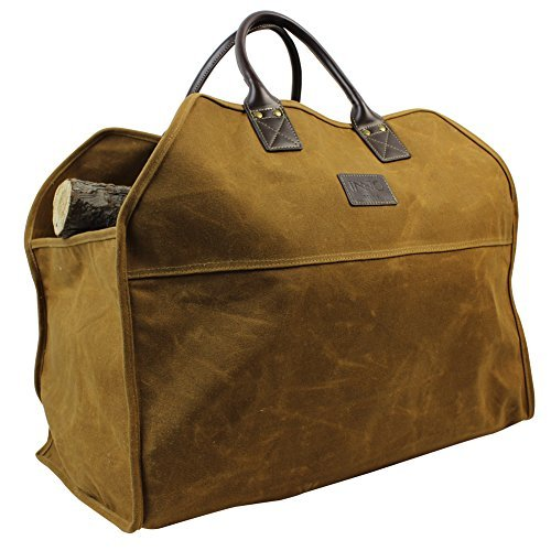 sche, langlebig, Holz, Tasche und Zubehör für Kamin, Ofen, extra groß, Brennholz mit Griffen für Camping ()