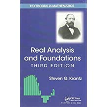 Real Analysis and Foundations, Third Edition (Textbooks in Mathematics) by Steven G. Krantz (2013-06-24)