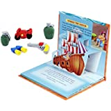COI COMBO POP UP FAIRY TALES STORY BOOK AND ICECREAM , PASTRY 3D ERASERS FOR KIDS (Sinbad)