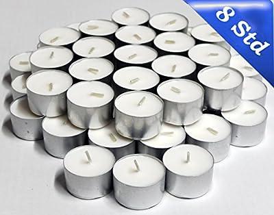 Tea Lights 8 Hour Burning Time White, (pack of 50) from Nordlicht - Kontor