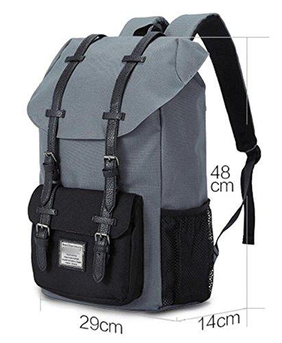 FZHLY Zaino Nuovo Drawstring Shoulder Bag Men Leisure Travel,Black BlackWithBlue