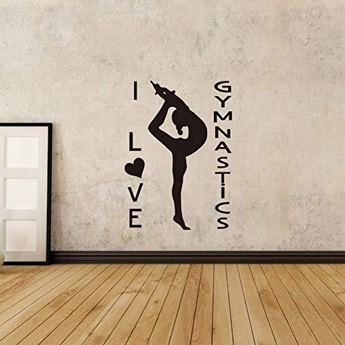 zqyjhkou Yoga Mädchen Wandaufkleber Gymnastik Leichtathletik Wandbild Mädchen Room Decor Gymnastik Mädchen Abnehmbare Vinyl Wandkunst Poster Ay1525 30x42 cm