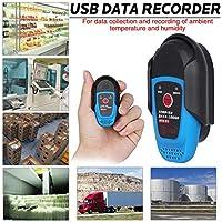 Registrador de Temperatura Datos Usb Sensor de Temperatura Interna Prueba Externa BTH81 Registrador de Datos de Temperatura y Humedad Registrador Automático de Datos USB Refrigeración Termómetro de
