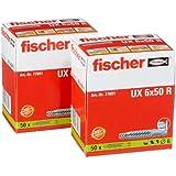 Fischer UX6X50 R UX6LR Universaldübel 50er Pack 2er Blister