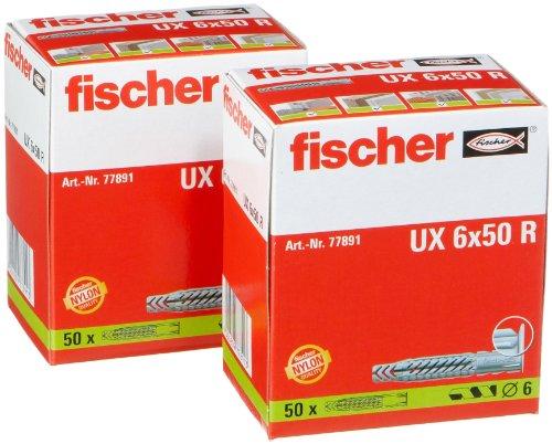 fischer-ux6x50-r-ux6lr-lot-de-2-paquets-de-50-chevilles-universelles
