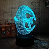3D Coral Fish Nightlight LED Lampada da tavolo a LED Mood Bedroom Livingroom Office Lampada da tavolo a LED Bambino Regali di Capodanno