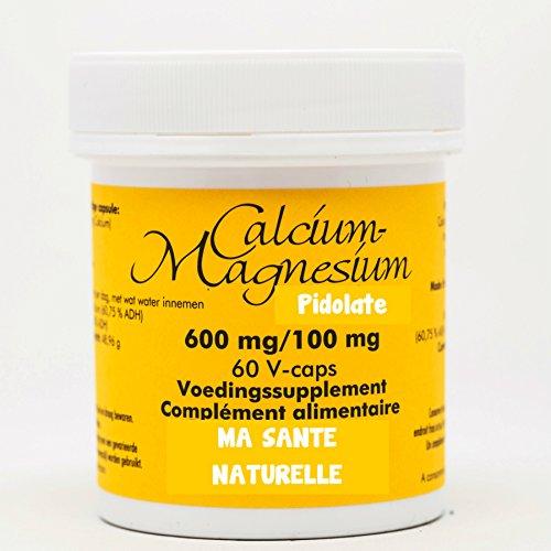 Pidolate Kalzium 600mg–Magnesium 100mg–60pflanzliche Kapseln