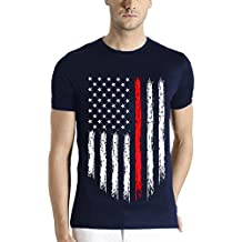 Adro Men's USA Flag Printed cotton T-shirt