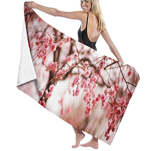 xcvgcxcvasda Serviette de bain, Cherry Blossom Beautiful Personalized Custom Women Men Quick Dry Lightweight Beach & Bath Blanket Great for Beach Trips, Pool, Swimming and Camping 31