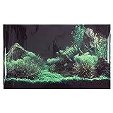 Haofy Aquarium Wasser Gras Stein Hintergrund dekorativer Malerei PVC Aufkleber, korallenrote Aquarium Hintergrund Plakat Tapete(122 * 46cm)