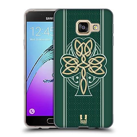 Head Case Designs Dara Knot Celtic Shamrock Soft Gel Case for Samsung Galaxy A3 (2016)