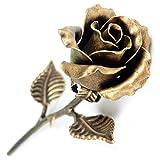 Handgeschmiedetes Ewige Metall Rose (Bronze lackiert) - Romantisches Geschenk