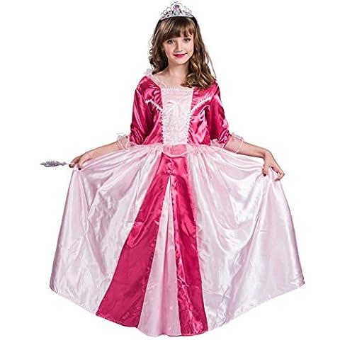 Fantast Costumes Mädchen Deluxe Prinzessin Kostüm Ziemlich Lange Kleid(Rosa, Large) (Ziemlich Weihnachten Kleider Für Mädchen)