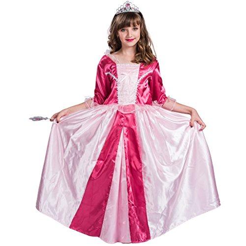 eluxe Prinzessin Kostüm Ziemlich Lange Kleid(Rosa, Medium) (Deluxe Prinzessin Kind Kostüme)