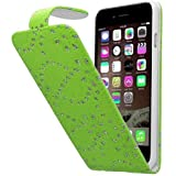 Connect Zone® iPod Touch 4 4th Generation Diamond Glitter PU Leather Flip Case Cover + Screen Protector & Polishing Cloth