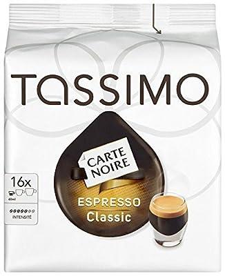 TASSIMO Carte Noire Espresso Classico 16 T DISCs (Pack of 5, Total 80 T DISCs)