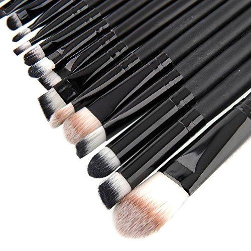 Maquita Negro 20pcs Make Up Pinceles Set Multi_Function Fundación Eyeshadading labio de la ceja Eyeliner Cosmetic