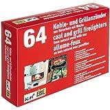 2 Schachteln à 64 Grill- und Kaminanzünder aus Naturholz mit Wachs (128 Anzünder) KM Firemaker Art. 272