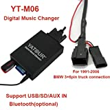 USB SD AUX MP3 Adapter nur für BMW E38 E39 E46 E53 Z4 für CD-Wechsleranschluss im Kofferraum bei Business, Professional, 4:3 CD Radio (nicht für DSP-Verstärker)