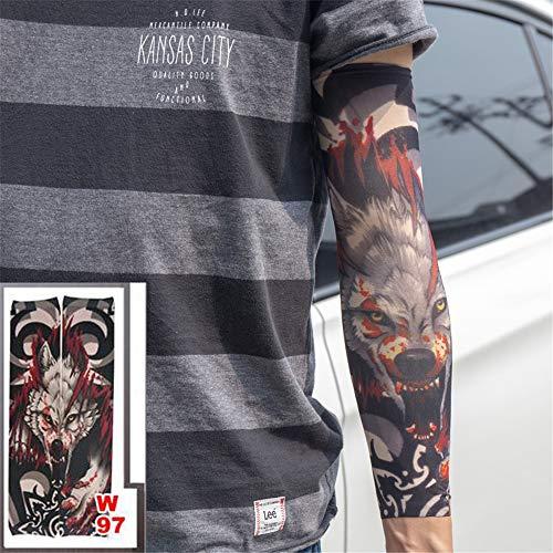 3 stück Neue Tattoo Sleeve Arm strümpfe elastische Teufel Monster Design Statoo COOL männer Frauen Fahren Beinschützer Sonnencreme heißer 3 Stücke -