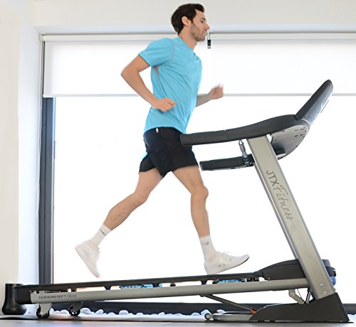51cdqQVS2JL - JTX Sprint-7: High Performance 20KPH Home Treadmill with Large Shock Absorbing Running Deck