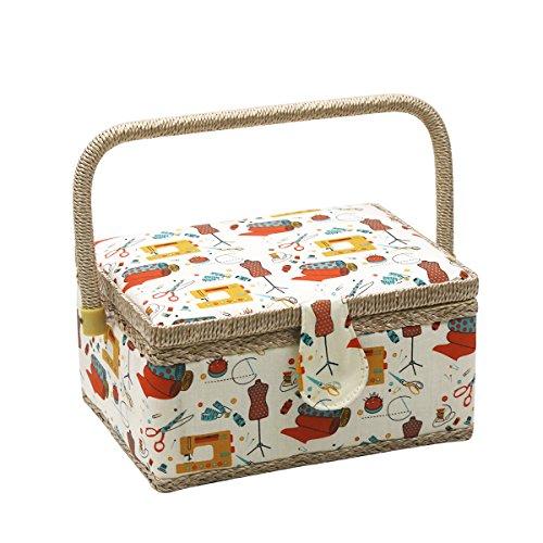 D&D - Kit de costura para casa y viaje (tamaño mediano) basket - orange