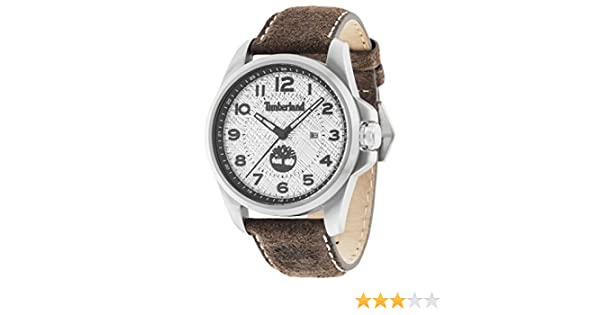 Timberland Men s Quartz Watch with Silver Dial Analogue Display and Dark  Brown Leather Strap 14768JS 04  Amazon.co.uk  Watches e75ceaa78a