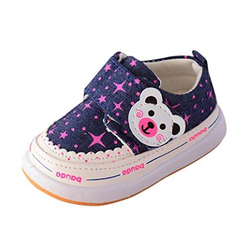 zapatos bebe niño otoño baratos Switchali Infantil Recién nacido Bebé niña Oso princesa zapatos deportivos bebe con Suela Cuna blanda Zapatillas casual zapatos niña (16 (6~12meses), Rosa Fuerte)