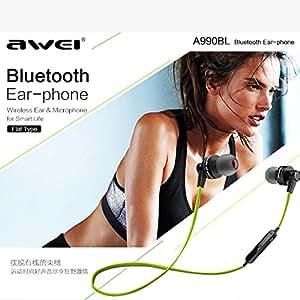 idlb 2015New Original AWEI a990bl Isolation 4.0étanche Sport écouteurs avec micro pour iPhone 6téléphone Bluetooth écouteurs, Noir