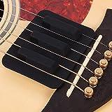 Guitare Sourdine Pad Accessoire de pratique Silicone Silencieux Son faible Contrôle de rétroaction pour la guitare acoustique folk(Noir)