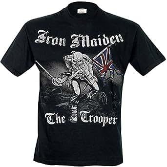 Rock Off Men's Iron Maiden Sketched Trooper Regular Fit Round Collar Short Sleeve T-Shirt, Black, Small
