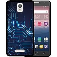 Funda Alcatel OneTouch Pop Star 4G LTE, WoowCase [ Alcatel OneTouch Pop Star 4G LTE ] Funda Silicona Gel Flexible Circuito, Carcasa Case TPU Silicona - Negro