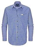 ALMBOCK Trachtenhemd Herren kariert | Slim-fit Männer Hemd dunkel-blau kariert | Karo Hemd aus 100% Baumwolle in den Größen S-XXXL