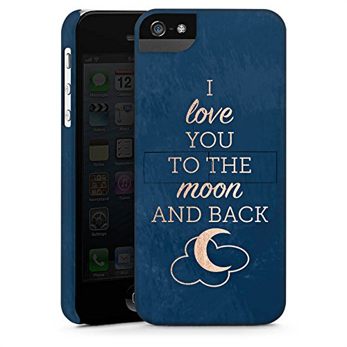 Apple iPhone X Silikon Hülle Case Schutzhülle Sprüche Moon I Love You Love Premium Case StandUp