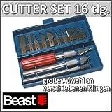 Beast Bastelmesser Cutter Set 16 tlg.
