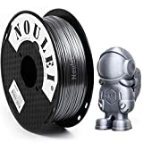 Noulei Filamento de para impresión 3d 1.75mm PLA, Silk SILVER Shiny Printer Filament 1KG 1 Spool